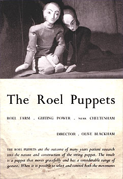 Roel Puppets Publicity Leaflet