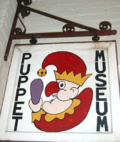 Puppet Museum Hanging Sign from Abbots Bromley
