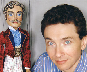"Ian Denny with ""Sir Cedric"" Marionette"