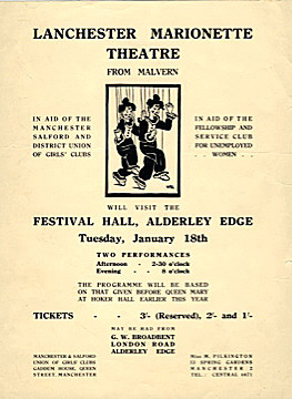 Festival Hall, Alderley Edge Flyer