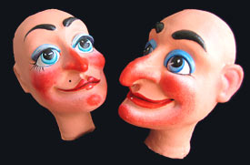 Painted Punch & Judy Heads