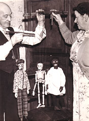 Harry's Son Jim & Wife with Marionettes